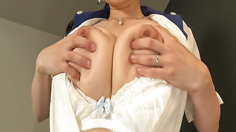 Asian maid uses toys to stimulate her needy vagina