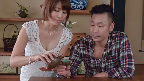 Lustful Seira Matsuoka gives top Japan blow job