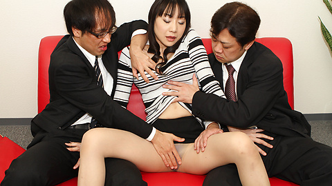 Miho Wakabayashi licks tool in drilling