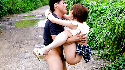 Outdoor creampie Asian fuck scenes with Mao Mizusawa